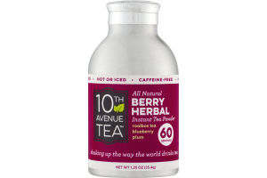 10th Avenue Tea All Natural Berry Herbal Instant Tea Powder