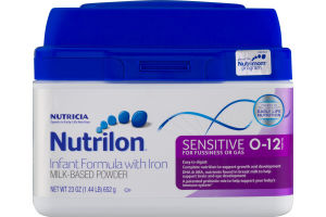 Nutrilon Infant Formula with Iron Milk-Based Powder Sensitive for Fussiness or Gas