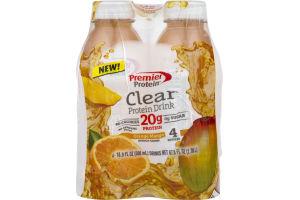 Premier Protein Clear Protein Drink Orange Mango - 4 PK