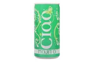 Коктейль винний 0.2л 6.9% Mojito Ciao з/б