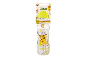 Бутылочка для кормления для детей от рождения с латексной соской 250мл №1310 Baby Team 1шт