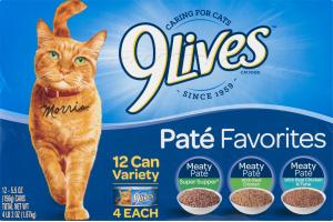 9Lives Cat Food Pate Favorites Variety Pack - 12 CT