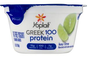 Yoplait Greek 100 Protein Fat Free Yogurt Key Lime