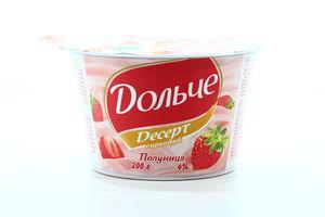Десерт творожный 4% President с клубникой Дольче п/ст 200г