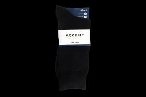 Шкарпетки чоловічі Accent №000783482729 42-43 чорний