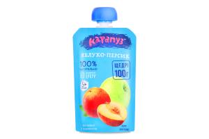 Пюре для дітей від 5міс Яблуко-персик Карапуз д/п 100г