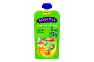 Пюре для детей от 6мес без сахара Витаминный микс Карапуз д/п 220г