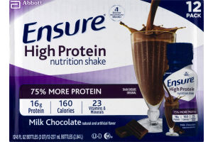 Ensure High Protein Nutrition Shake Milk Chocolate - 12 PK