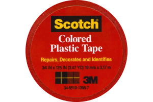 Scotch Red Colored Plastic Tape