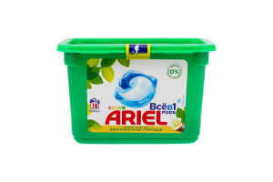 Средство моющее синтетическое жидкое в растворимых капсулах Аромат масла ши Color Ariel 18х23.8г