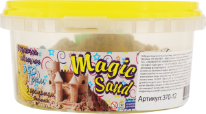Набір для творчості жовтого кольору з ароматом банана для дітей від 3років №370-9 Magic Sand Strateg 1шт