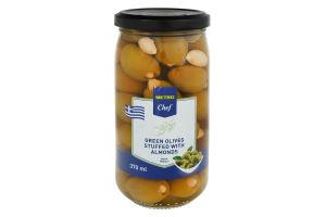 Оливки зелені з мигдалем Metro Chef с/б 350г