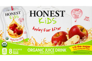 Honest Kids Organic Juice Drink Pouches Appley Ever After - 8 CT