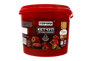 Кетчуп пастеризований Професійний Торчин відро 3.4кг