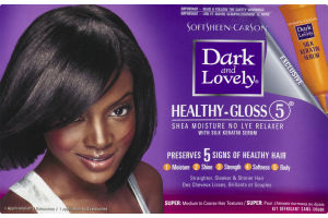 Dark And Lovely Healthy-Gloss 5 Shea Moisture No Lye Relaxer Super