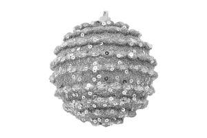 Украшение елочное Шар пенопласт серебряная 8см Y2