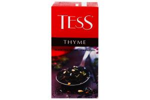 Чай чорний байховий дрібний з рослинними компонентами та ароматом лимона і чебрецю Thyme Tess к/у 25х1.5г