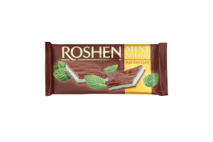 Шоколад Roshen молочний з м`ятною нугою 90г х20