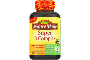 Nature Made Super B-Complex Dietary Supplement Tablets - 360 CT