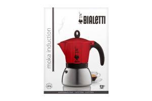 Кофеварка Bialetti MokaInduct гейз крас 6чаш 0.36л