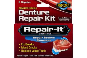 Repair-It Zinc Free Denture Repair Kit - 3 CT