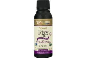 Spectrum Organic Flax Oil with Vitamin D