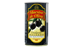 Маслини без кісточки Maestro de Oliva з/б 360г