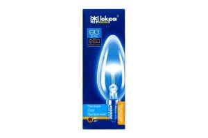 Лампа Искра В35 60Вт Е14 свеча прозр