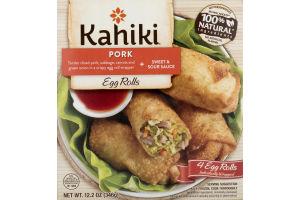 Kahiki Egg Rolls Pork - 4 CT