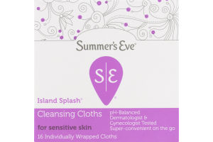 Summer's Eve Island Splash Cleansing Cloths for Sensitive Skin