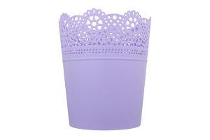 Горшок д/цвет Prosperplast Lace круг лаванда 140мм