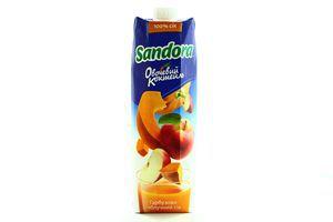 Сок тыквенно-яблочный Сандора Овощной коктейль т/п 0,95л