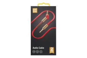 Кабель Audio 1.2м червоний Luxe Cube 1шт