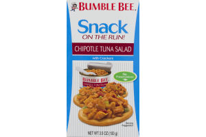 Bumble Bee Snack On The Run! Chipotle Tuna Salad with Crackers