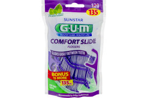 GUM Comfort Slide Flossers Fresh Mint - 135 CT