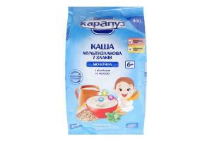 Каша молочна для дітей від 6міс Мультизлакова 7 злаків Карапуз м/у 400г