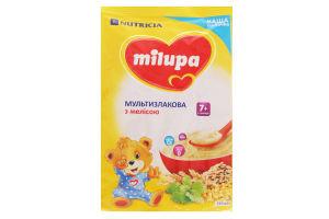 Каша Milupa молочна суха швидкорозчинна мультизлакова з мелісою для дітей від 7-ми міс. 210г