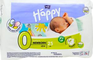 "Підгузник Happy ""0"" Before NewBorn 25шт"