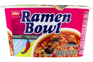Nissin Ramen Bowl Spicy Shrimp Flavor