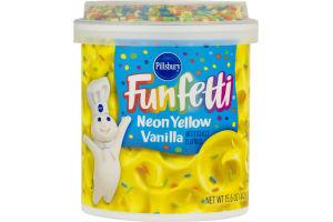 Pillsbury Funfetti Frosting Neon Yellow Vanilla