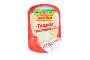 Творог ЗвениГора Традиционный кисломолочный 15% п/б 230г