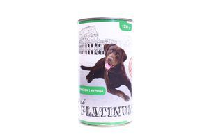 Корм Platinum для собак з куркою 1230г ж/б х12