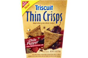 Nabisco Triscuit Thin Crisps Chili Pepper Baked Whole Grain Wheat Crackers
