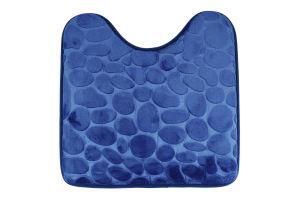 Коврик для туалета синий 45*45см Оффтоп