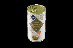 Оливки Премія зеленые фаршированные с креветками