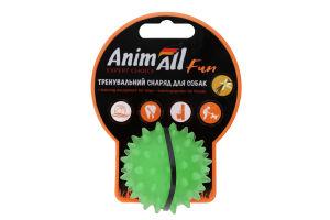 Снаряд тренувальний для собак 5см зелений Каштан м'яч Fun AnimAll 1шт