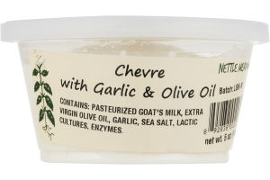 Nettle Meadow Chevre with Garlic & Olive Oil