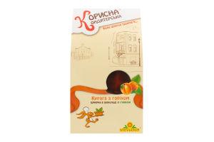 Конфета глазированная шоколадом Курага с орехом Корисна Кондитерська к/у 150г