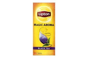 Чай черный с ароматом чайных цветов Magic Aroma Lipton к/у 25х2г
