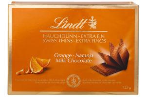 Шоколад молочный Orange Lindt к/у 125г